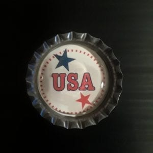 Patriotic and Military Image Bottle Caps